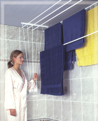 Obrázek ALDOTRADE Stropní sušák na prádlo Ideal 5 tyčí 130 cm