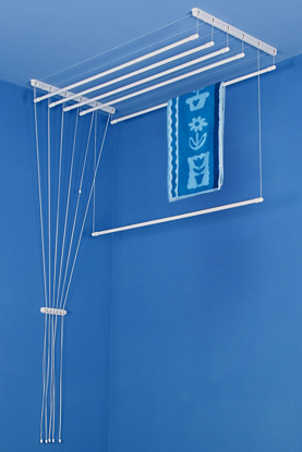 Obrázek ALDOTRADE Stropní sušák na prádlo Ideal 6 tyčí 100 cm - Bílá
