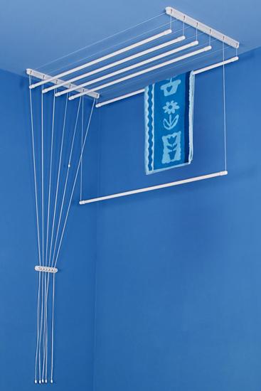 Obrázek z ALDO Stropní sušák na prádlo Ideal 6 tyčí 100 cm - Bílá