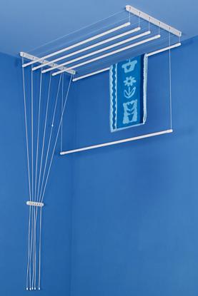 Obrázek ALDOTRADE Stropní sušák na prádlo Ideal 6 tyčí 130 cm - Bílá