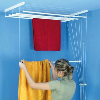 Obrázek ALDOTRADE Stropní sušák na prádlo Ideal 6 tyčí 220 cm