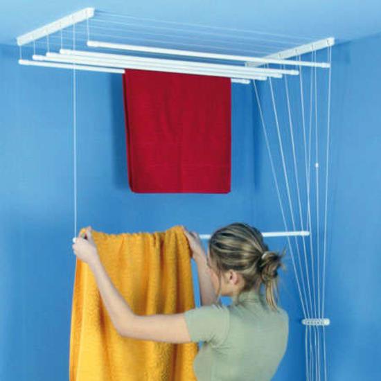 Obrázek z ALDOTRADE Stropní sušák na prádlo Ideal 6 tyčí 220 cm