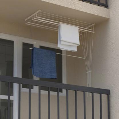 Obrázek ALDOTRADE Stropní sušák na prádlo Ideal 7 tyčí 120 cm